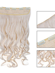 5 Clips Wavy 60# synthetic Hair Clip In Hair Extensions For Ladies more colors available