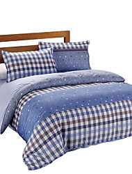 Mingjie 100% Cotton Blue Stripes Bedding Sets 4PCS for Twin Full QueenSize from China Contian 1 Duvet Cover 1 Flatsheet 2 Pillowcases