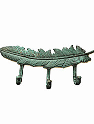 Retro Vintage Style Wrought Iron Feather Wall Hook