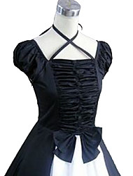 Outfits Gothic Lolita Victorian Cosplay Lolita Dress Solid Short Sleeve Ankle-length Skirt Dress For Charmeuse