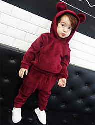 Boy Casual/Daily Sports School Solid Sets,Polyester Winter Long Sleeve Clothing Set