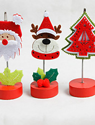 1PCS Creative Furnishing Articles Santa Claus Christmas Card Holder Memo Clip Office Desktop Small Place Design Is Random