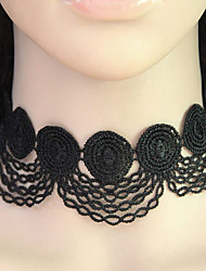 Women's Choker Necklaces Collar Necklace Lace Vintage Fashion Black Jewelry Party 1pc