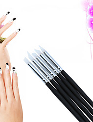 5Pcs/Set BQAN Painting Nail Brush Set Silica Gel UV Gel Carving Nail Art Dotting Pen Make Patterns Nail Art Brush