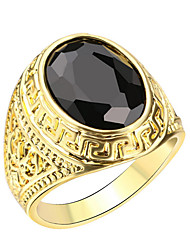 Men's European and American Popular Jewelry Inlaid Black Resin Jewelry Rings Jewelry Punk