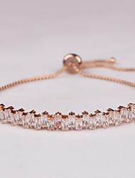Women's Chain Bracelet Zircon Cubic Zirconia Fashion Luxury Jewelry Silver Golden Rose Gold Jewelry 1pc