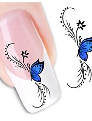 1sheet  Water Transfer Nail Art Sticker Decal XF1439