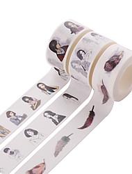 3PCS DIY Decorative Tape Masking Adhesive Tape Scrapbooking Diary Wall Decorative stickers 10M