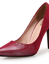 Women's Heels Others Novelty Leather Wedding Dress Party & Evening Stiletto Heel Sparkling Glitter Yellow Burgundy