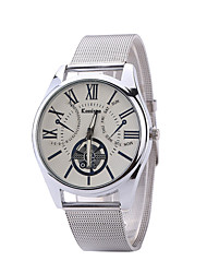 Men's / Women's Wrist watch Quartz PU Band Casual Silver Brand