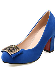 Women's Heels Spring Summer Fall Shoes & Matching Bags Leatherette Casual Party & Evening Chunky Heel Bowknot Sparkling GlitterBlack Blue