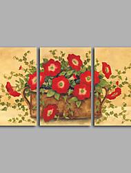 canvas Set / Impressão em tela sem moldura Vida Imóvel / Floral/Botânico Clássico,3 Painéis Horizontal Impressão artística wall Decor For