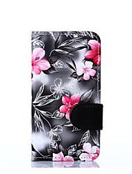 For Nokia Nokia Lumia 630 Flowers PU Leather Case