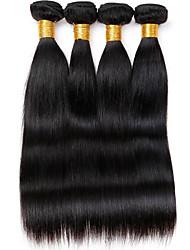 Tissages de cheveux humains Cheveux Vietnamiens Droit 12 mois 4 Pièces tissages de cheveux