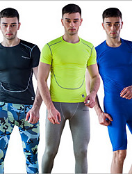 Homme Fitness Course Des sports Lycra Spandex Chinlon
