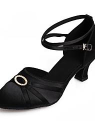 Customizable Women's Dance Shoes Latin Salsa Sandals Cuban Heel Practice Beginner Professional Indoor Performance
