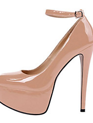 Women's Heels Spring Summer Fall Other Patent Leather Office & Career Party & Evening Casual Stiletto Heel BuckleBlack Blue Pink Red