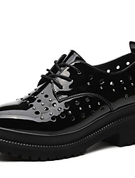 Women's Sneakers Spring Summer Comfort Leatherette Office & Career Casual Creepers Rivet Black Silver