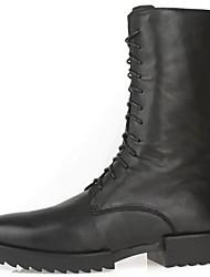 Masculino-Botas-OutroPreto-Pele-Ar-Livre Casual