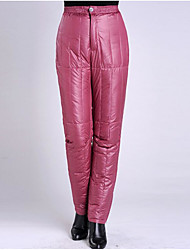 Women's Petite Straight Chinos Pants,Casual/Daily Simple Solid High Rise Zipper Polyester Micro-elastic All Seasons