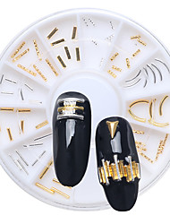 Tribal Style Manicure Alloy Jewelry Gold Silver Bar Bar Bending Loading