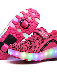 Kids Boy Girl's Roller Skate Shoes / Ultra-light Two Wheel Skating LED Light Shoes / Athletic / Casual LED Shoes Black Pink Blue