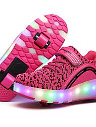 Черный Синий Розовый-Для девочек-Для прогулок Повседневный Для занятий спортом-Тюль-На низком каблуке-Удобная обувь-Спортивная обувь