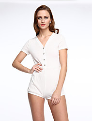 Women's  Stylish Laid Back Romper with Button up