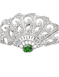 Women's Brooches Gemstone Classic Silver Jewelry Party