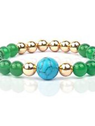 Women's Strand Bracelet Beaded Agate Gem Jewelry For Casual 1pc