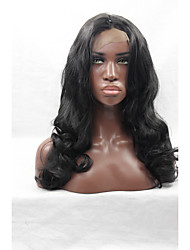 Natural Black Body Wave Synthetic Lace Front Wig Long Black Big Wavy Wigs