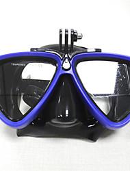 Дайвинг Маски плавательные очки Взрослый Подводное плавание и снорклинг Плавание Красный Зеленый Синий Белый пластик Pезина