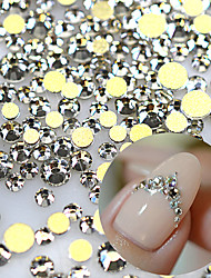 1440pcs/pack 3D SS3-SS16 Nail Art Rhinestones Claer Flat back Glass Stones Nail Decoration Tool Nail Accessory