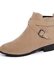 Women's Boots Winter Others Comfort PU Casual Low Heel Buckle Black Beige Others