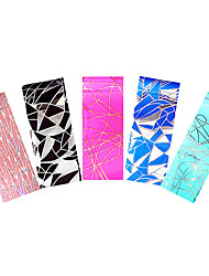 5pcs Nail Art Foil Colored Sticker Transfer Film Broken Glass Full Cover Wrap Decal for Women DIY Manicures Tool