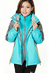 Women's 3-in-1 Jackets Waterproof Thermal / Warm Windproof Fleece Lining Antistatic Tracksuit Coveralls for Skiing Camping / Hiking