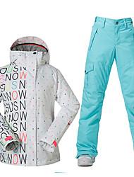 Wandern Ski/Snowboard Jacken Damen Wasserdicht warm halten Windundurchlässig Reißverschluß vorne Frühling Herbst Winter Polyester XS S M L