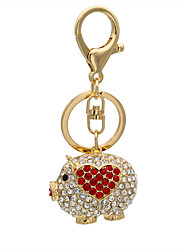 Fashion Keychain Key diamond piggy Keychain 0178#