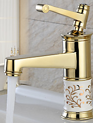 Porcelain Faucet Retro Mixer Tap Fashion Antique Faucet Copper Hot And Cold Basin Tap