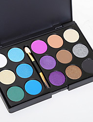 15 Lidschattenpalette Trocken Lidschatten-Palette Puder NormalFeen Makeup Cateye Makeup Smokey Makeup Alltag Make-up Halloween Make-up