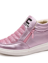Girl's Sneakers Spring Fall Winter Comfort PU Casual Low Heel Magic Tape Pink Gold Other