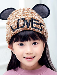 Winter fashion alphabet plus cashmere ear single hat children knit hat child wool cap hat