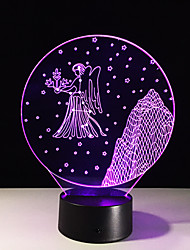 1PC Virgo Colorful Vision Stereo Led Lamp 3D Lamp Light Colorful Gradient Acrylic Lamp Night Light Vision