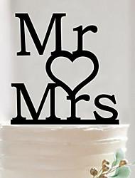 English letters acrylic wedding cake inserted card Elegant cake decoration birthday cake inserted card