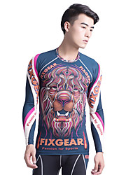 Long Sleeve Running Clothing Sets/Suits Breathable Spring Sports Wear Running Spandex Tight Black Floral / Botanical