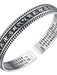 Women's Bangles Love Natural Classic Sterling Silver Alphabet Shape Jewelry For Birthday Gift