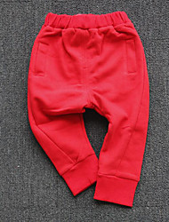 Unisex Casual/Daily School Solid Pants-Cotton Fall