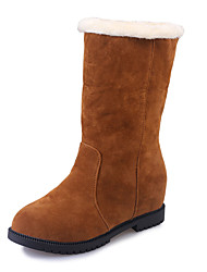 Women's Boots Winter Other PU Casual Low Heel Others Black Red Dark Brown Other