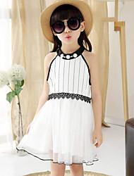 Summer Girls Hang BoLing Net Yarn Splicing Dress