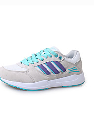Women's Athletic Shoes Fall / Winter Comfort PU Casual Low Heel Lace-up Green / Purple / Gray Others